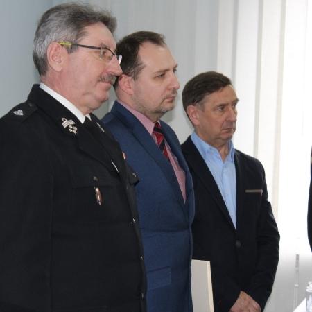 Zastępca Komendanta Miejskiego PSP żegna się ze służbą