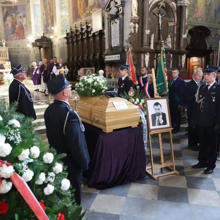 Ostatnie pożegnanie Starosty Płockiego śp. Mariusza Bieńka