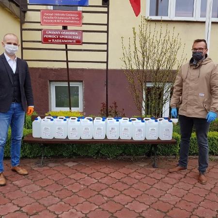 Przekazanie środków do dezynfekcji