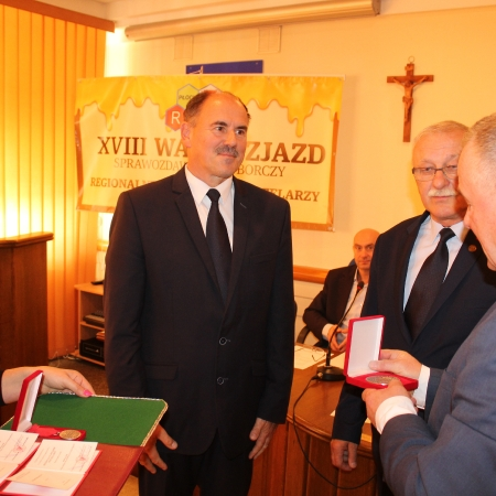 Pszczelarze z regionu płockiego gościli w płockim Starostwie Powiatowym w Płocku
