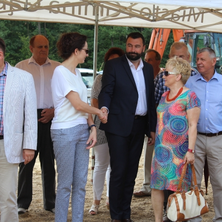Uroczyste rozpoczęcie budowy obwodnicy Gąbina