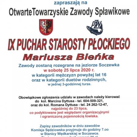 Zawody Spławikowe o Puchar Starosty Płockiego już w sobotę w Soczewce